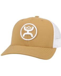 HOOey Kids Tan & White O Classic Logo Mesh-Back Trucker Cap  , Tan, hi-res