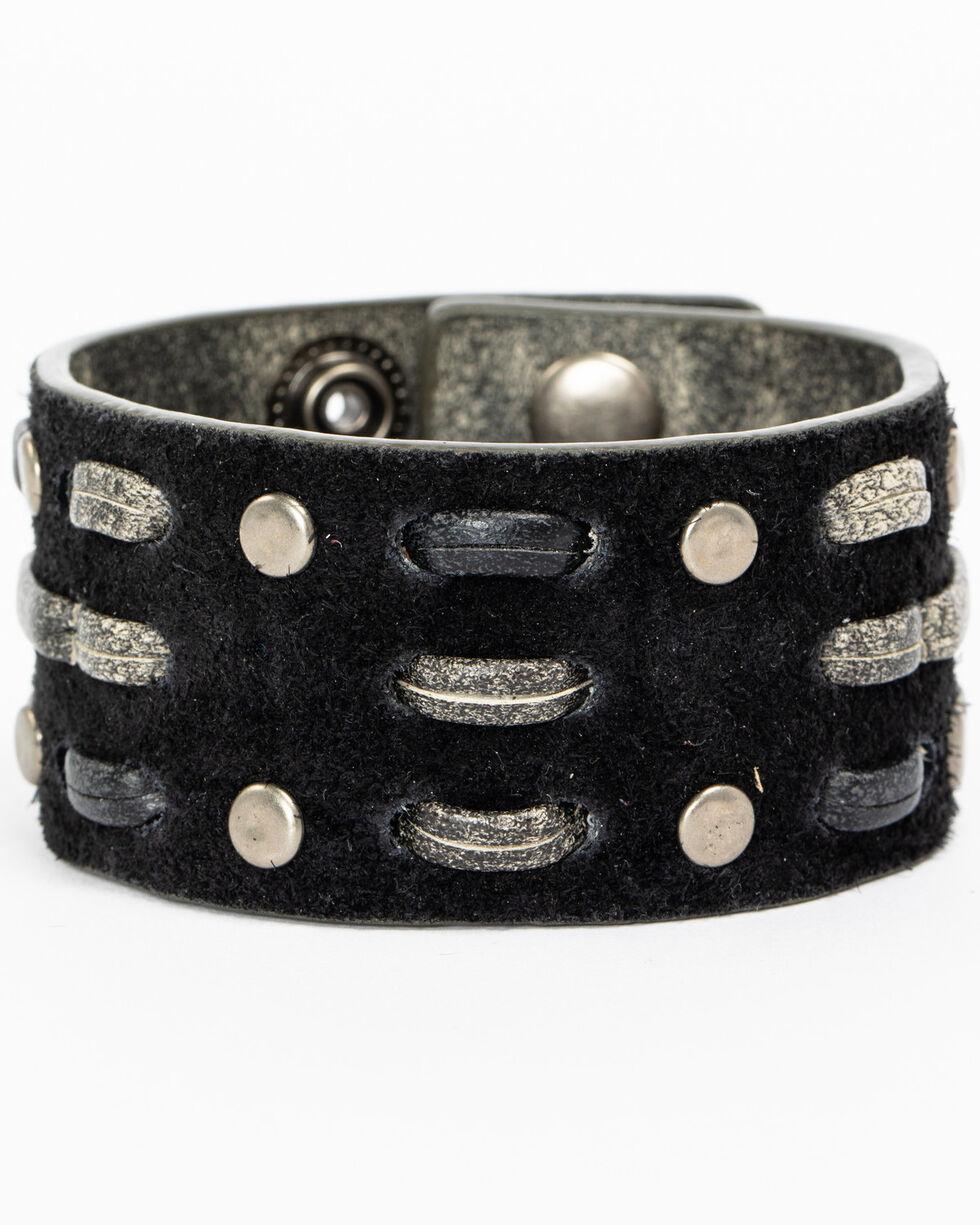 Shyanne Women's Two-Tone Criss-Cross Bracelet Cuff, Silver, hi-res
