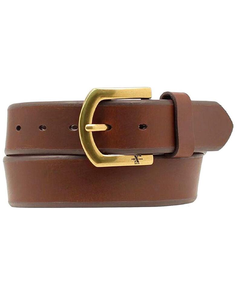 M&F Western Men's HDX Brass Buckle Belt - Big, Brown, hi-res