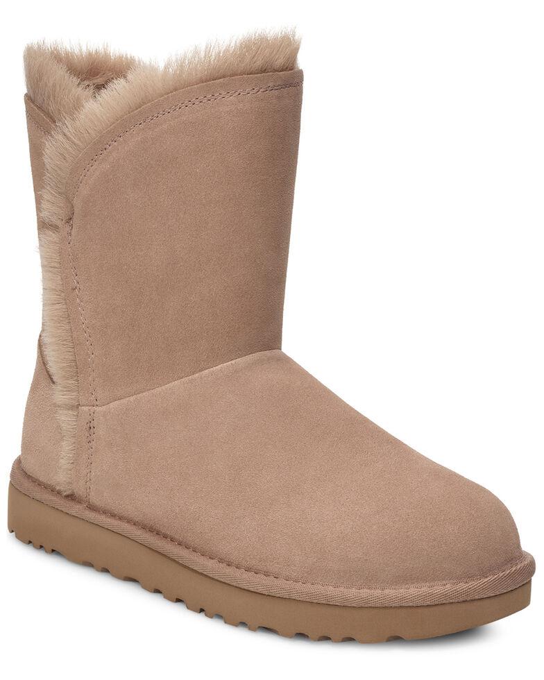 UGG Women's Classic Short Fluff Boots, Tan, hi-res