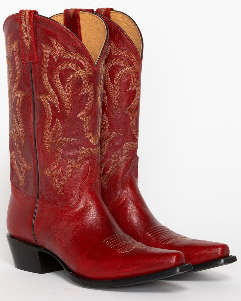 9d9950dfc83 Shyanne Women s Red Leather Cowgirl Boots - Snip Toe - Country Outfitter