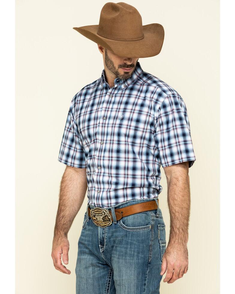 Ariat Men's Thompsonville Multi Plaid Short Sleeve Western Shirt - Tall , Multi, hi-res