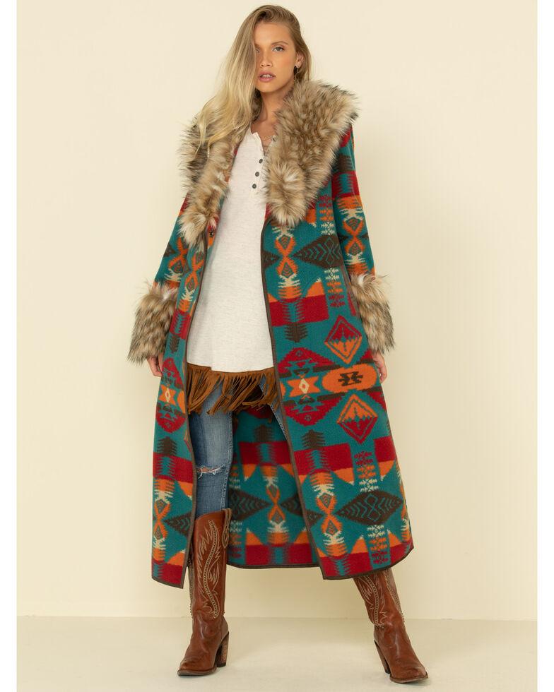 Tasha Polizzi Women's Park City Blanket Coat , Multi, hi-res