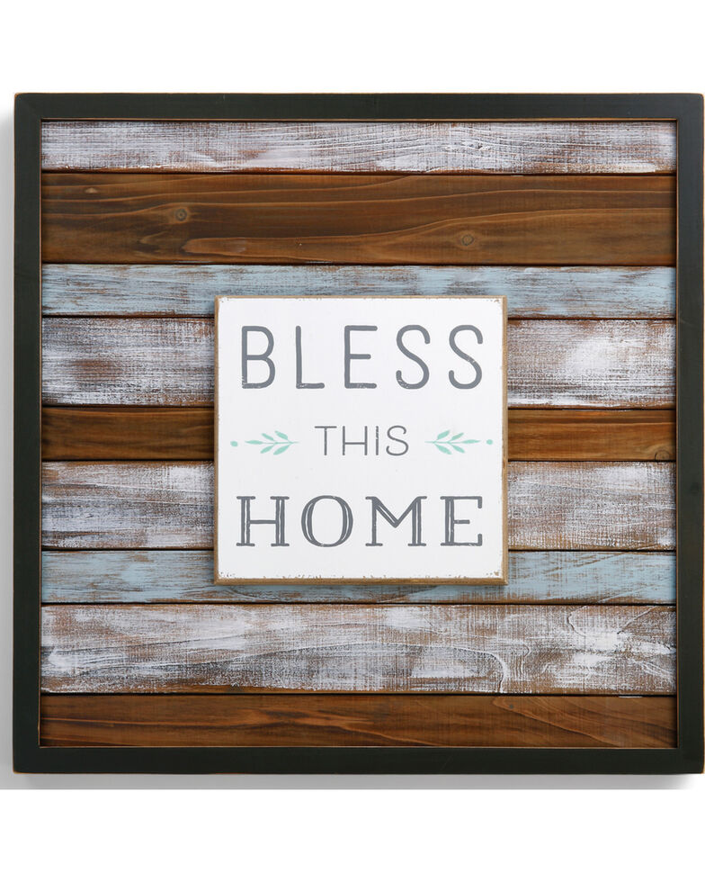 Demdaco Bless This Home Wall Art, Brown, hi-res