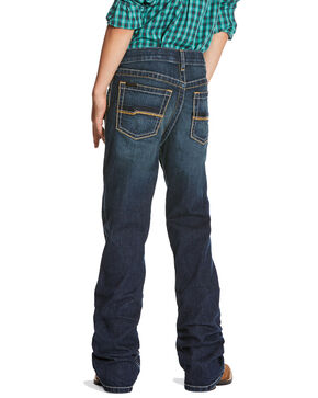 Ariat Boys' B4 Racer Relaxed Stretch Boot Jeans , Medium Blue, hi-res