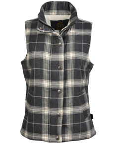 STS Ranchwear Women's Aspen Vest, Black/white, hi-res