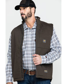 Ariat Men's Rebar Duracanvas Work Vest - Big & Tall , Loden, hi-res