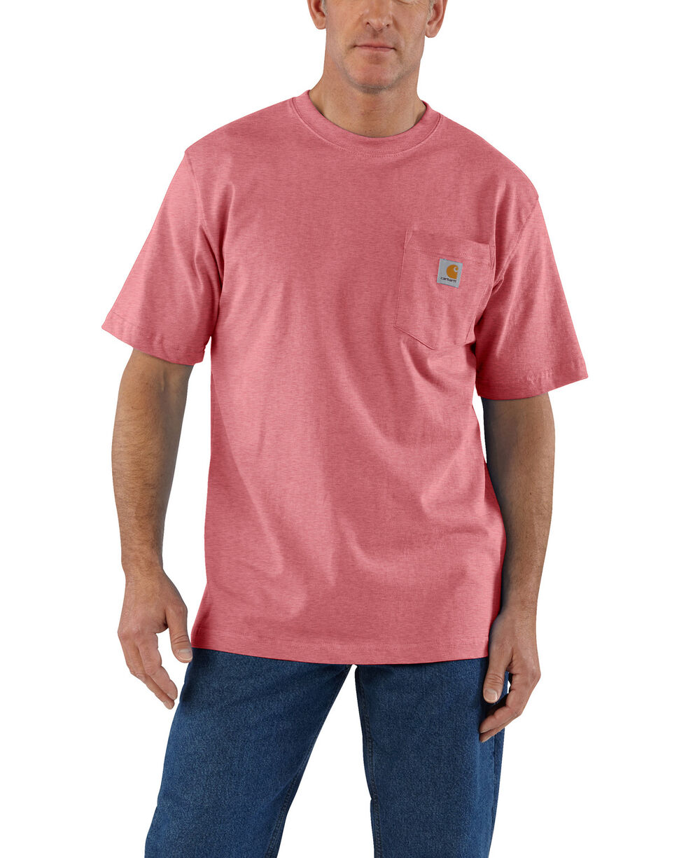 Carhartt Men's Pink Workwear Pocket Short-Sleeve Work T-Shirt - Tall , Pink, hi-res