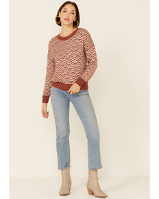 Shyanne Women's Caramel Marled Knit Pullover Sweater , Camel, hi-res