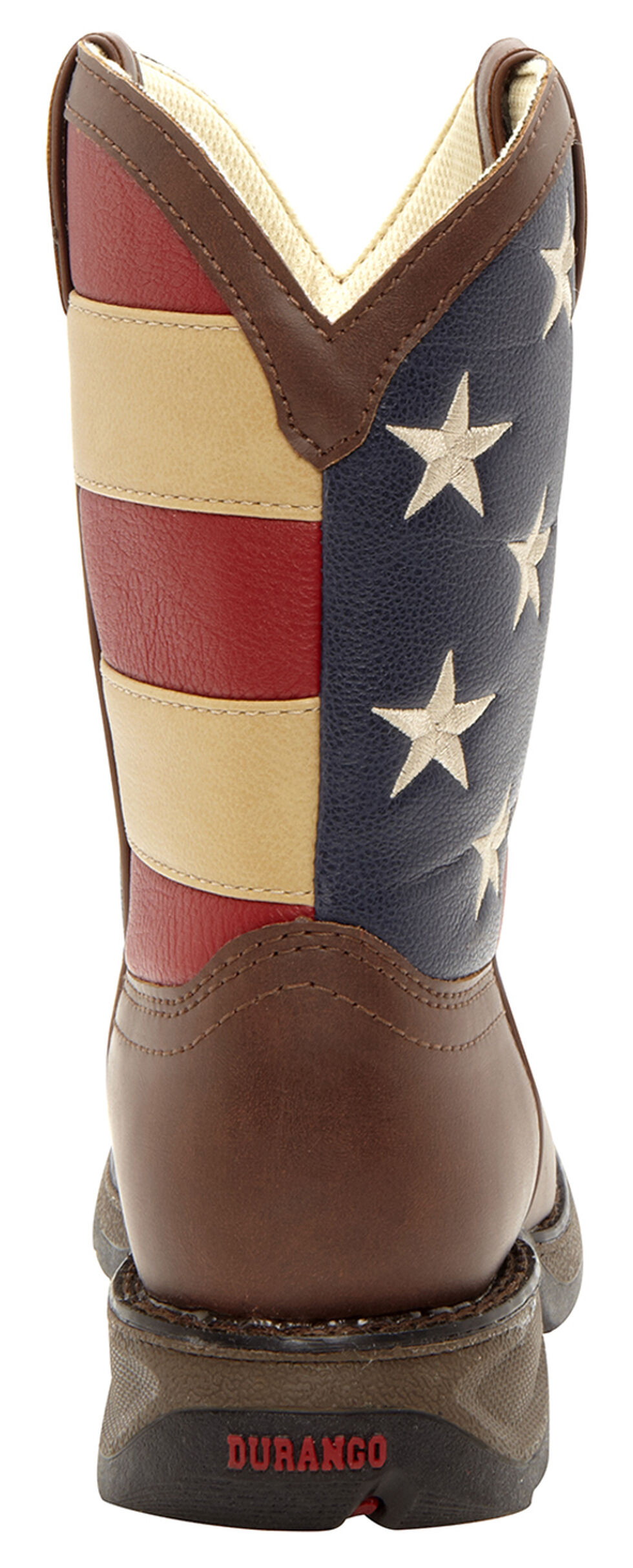Durango Youth Boys' American Flag Western Boots, Brown, hi-res
