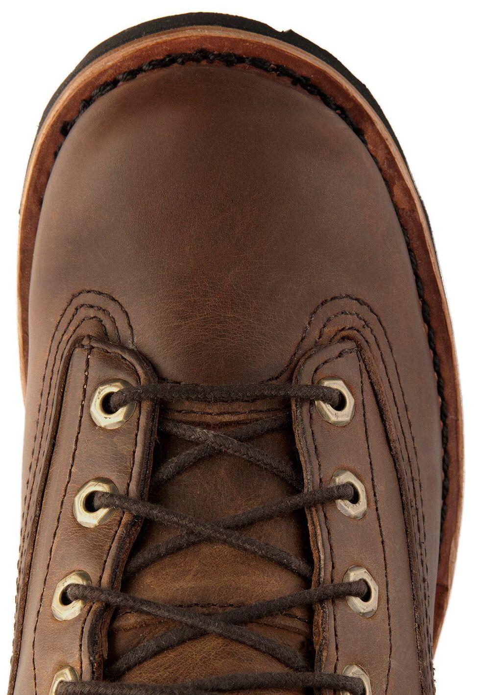 "Chippewa Waterproof 8"" Logger Boots - Plain Toe, Bay Apache, hi-res"