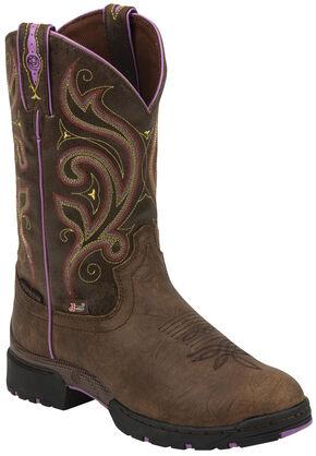 Justin Women's George Strait Lovebug Waterproof Cowgirl Boots - Round Toe, Golden, hi-res