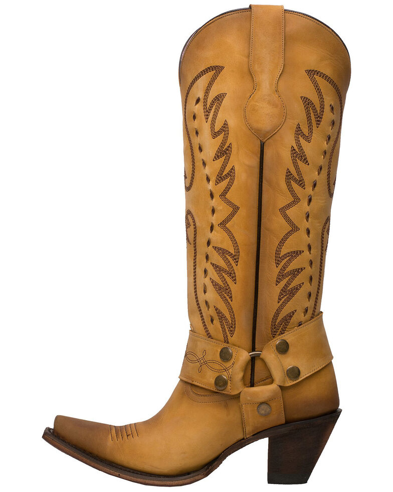 Junk Gypsy by Lane Women's Vagabond Western Boots - Snip Toe, Mustard, hi-res