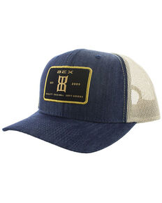 Bex Men's Denim Timber Embroidered Patch Mesh-Back Ball Cap , Blue, hi-res