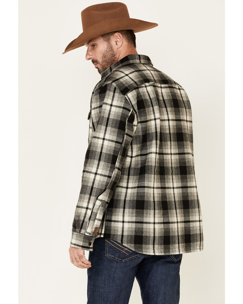 Dakota Grizzly Men's Wade Brawny Flannel Long Sleeve Western Shirt Jacket , Stone, hi-res