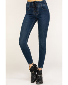 Free People Women's Lovers Knot Blue Jeans, Blue, hi-res