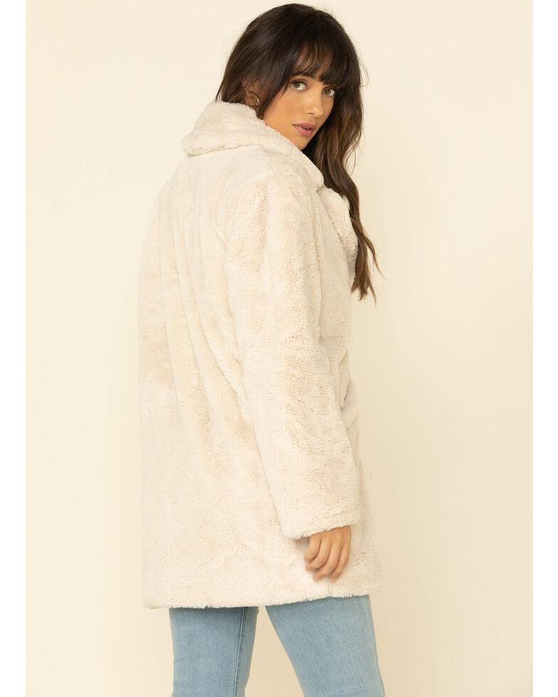 PJ Salvage Women's Stone Message Lined Faux Fur Jacket , Stone, hi-res