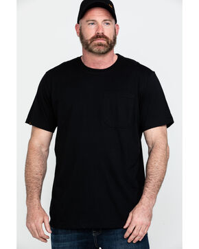 Hawx® Men's Black Pocket Crew Short Sleeve Work T-Shirt - Big, Black, hi-res