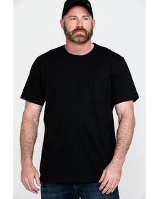 Hawx® Men's Black Pocket Crew Short Sleeve Work T-Shirt - Tall , Black, hi-res