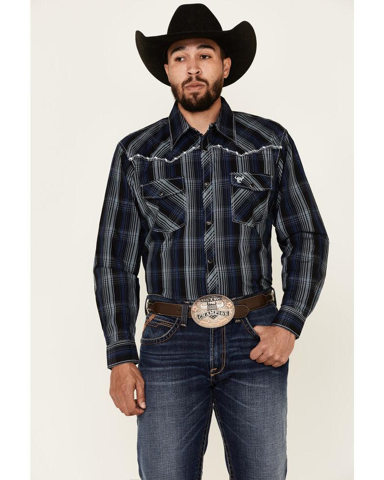 Cowboy Hardware Men's Halter Large Plaid Long Sleeve Snap Western Shirt , Multi, hi-res