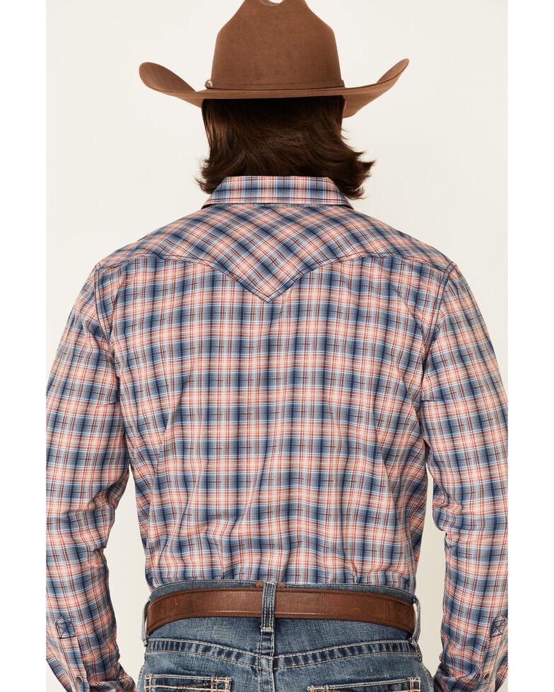Cody James Men's Liberty Bell Large Dobby Plaid Long Sleeve Snap Western Shirt - Big , Navy, hi-res