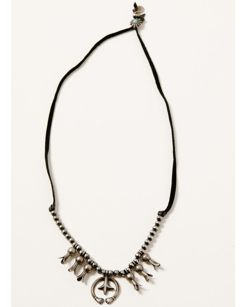 Double D Ranch Women's Sacred Desert Pearl Necklace, Black, hi-res