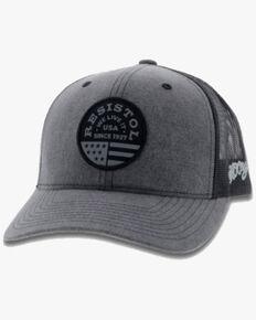 HOOey Men's Grey Resistol Mesh Trucker Cap , Grey, hi-res