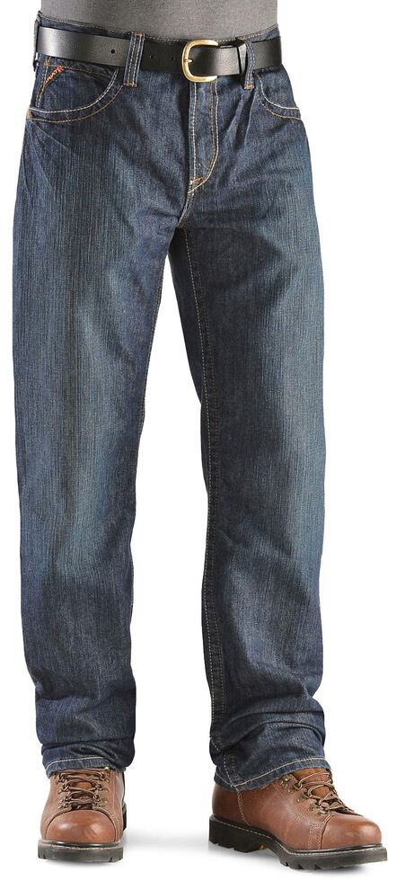 Ariat Flame Resistant Loose Fit Shale Jeans, Denim, hi-res