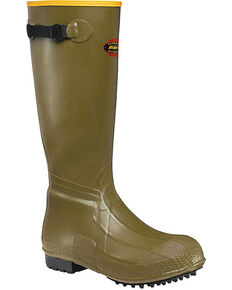 "LaCrosse Men's Burly Air-Grip 18"" Hunting Boots - Round Toe , Green, hi-res"