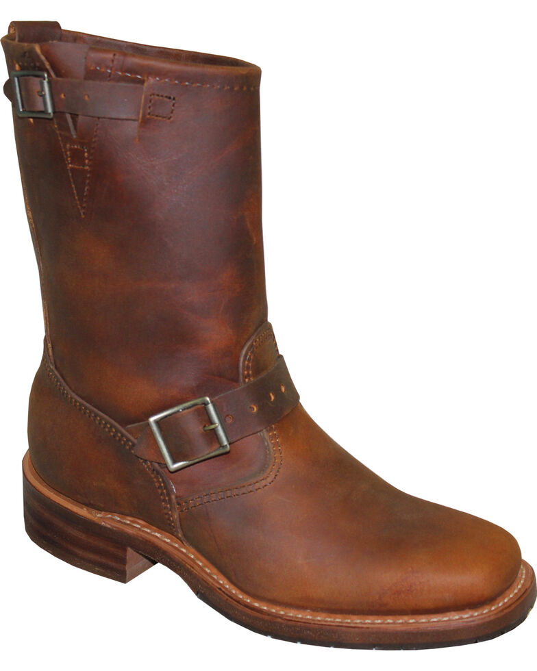 "Sage by Abilene Men's 11"" Engineer Boots - Square Toe, Tan, hi-res"