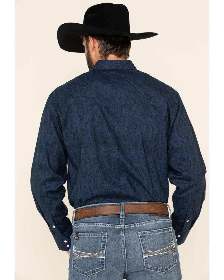 Resistol Men's Navy Birch Solid Long Sleeve Western Shirt , Navy, hi-res