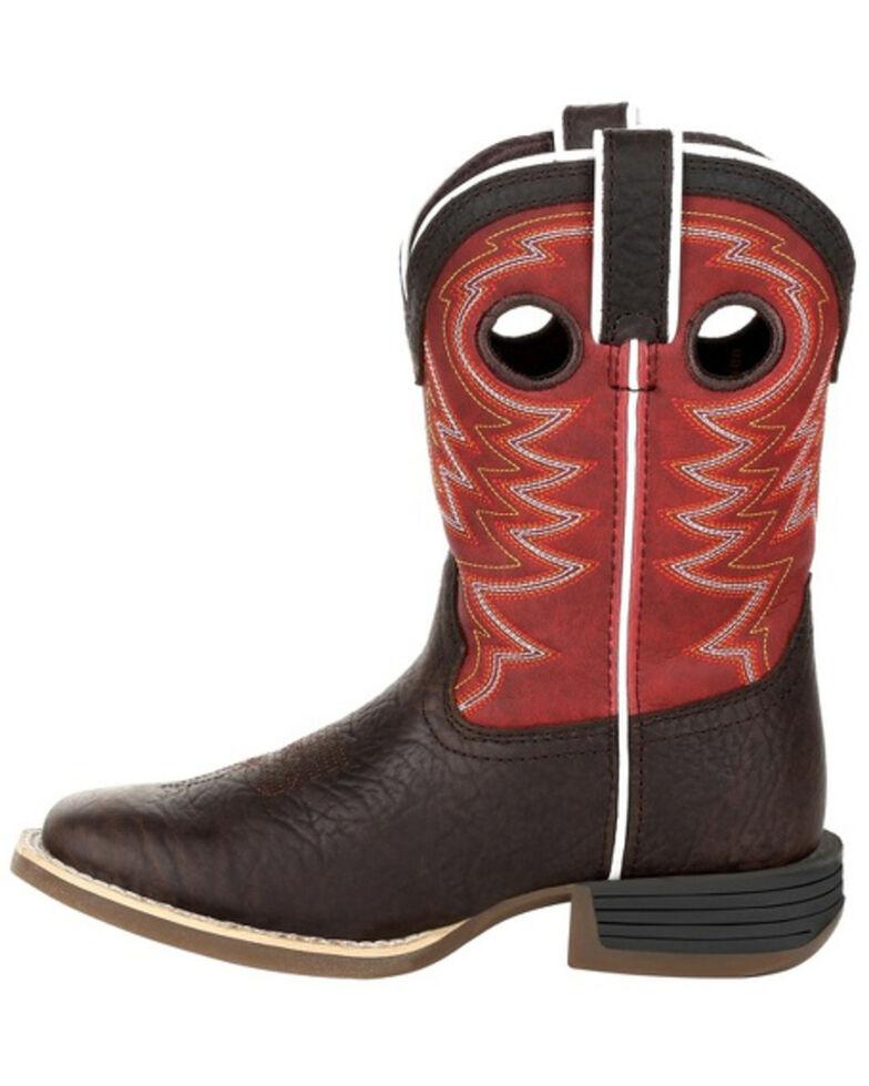 Durango Boys' Lil Rebel Pro Western Boots - Square Toe, Brown, hi-res