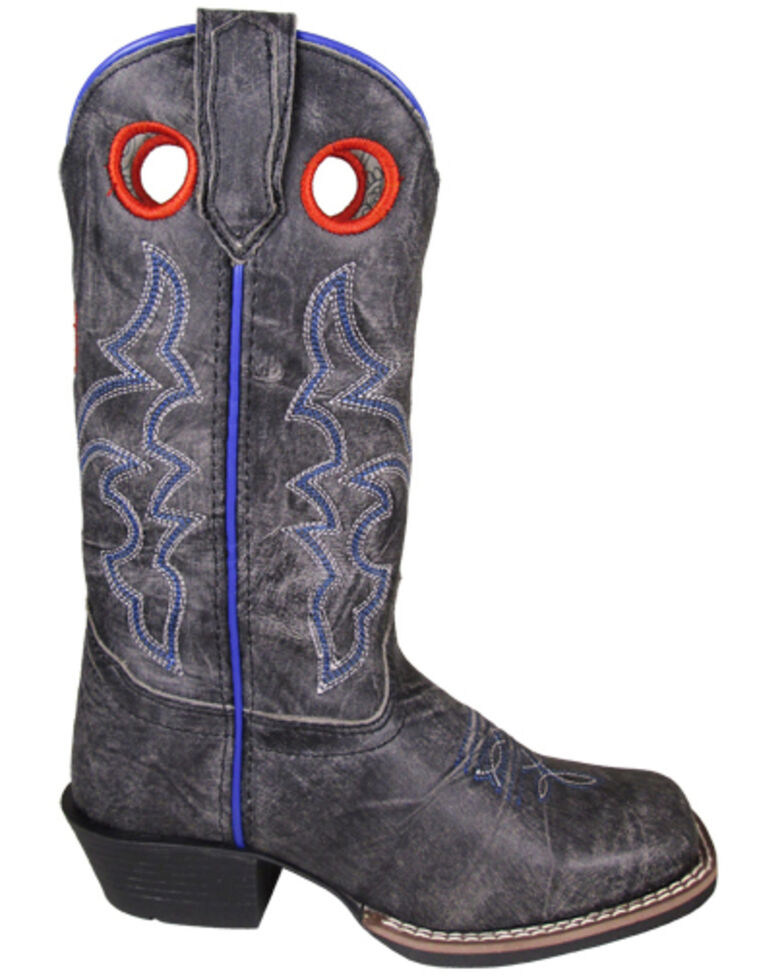 Smoky Mountain Girls' Rosalie Western Boots - Square Toe, Black, hi-res