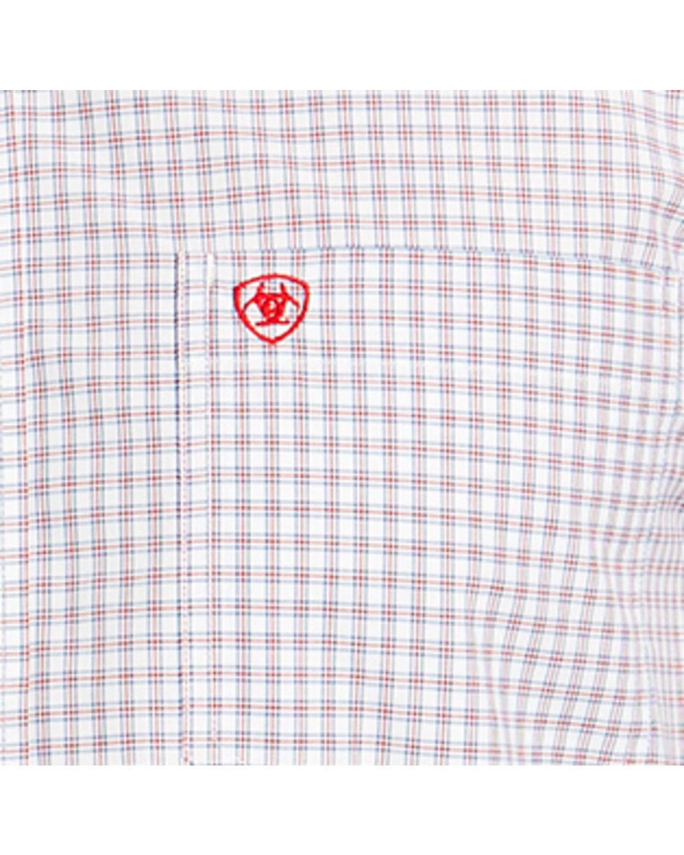 Ariat Men's White Marco Long Sleeve Shirt , White, hi-res