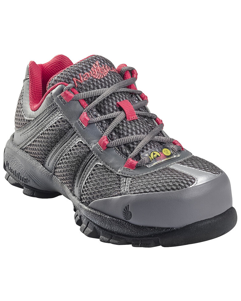 Nautilus Women's ESD Athletic Work Shoes - Steel Toe, Grey, hi-res