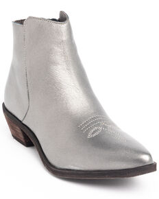 Shyanne Women's Trina Fashion Booties - Snip Toe, Silver, hi-res