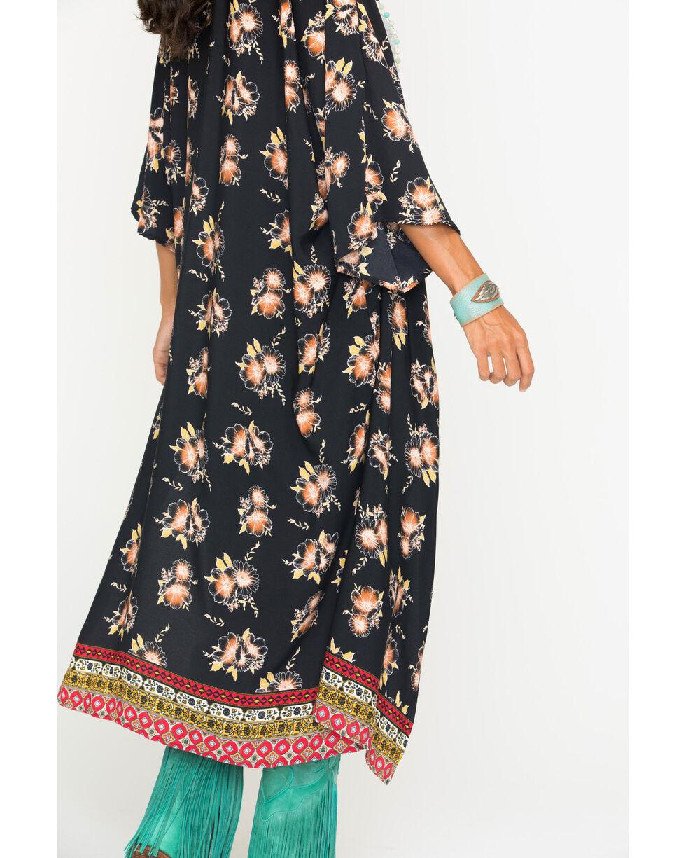 Ces Femme Women's Floral Long Kimono Cardigan, , hi-res