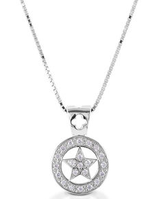 Kelly Herd Women's Small Star Pendant Necklace , Silver, hi-res