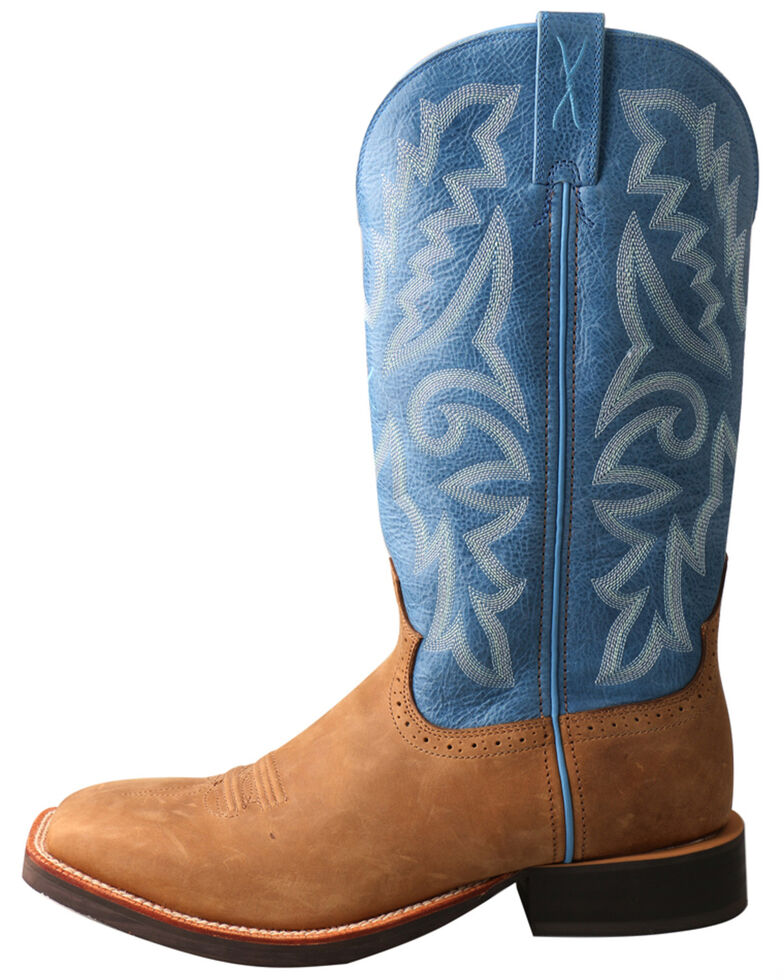 Twisted X Men's Rough Stock Western Boots - Square Toe, Tan, hi-res