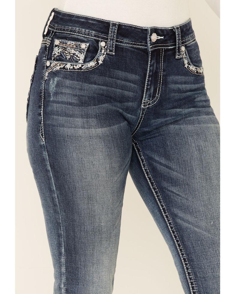 Grace in LA Women's Arrow Burst Bootcut Jeans, Blue, hi-res