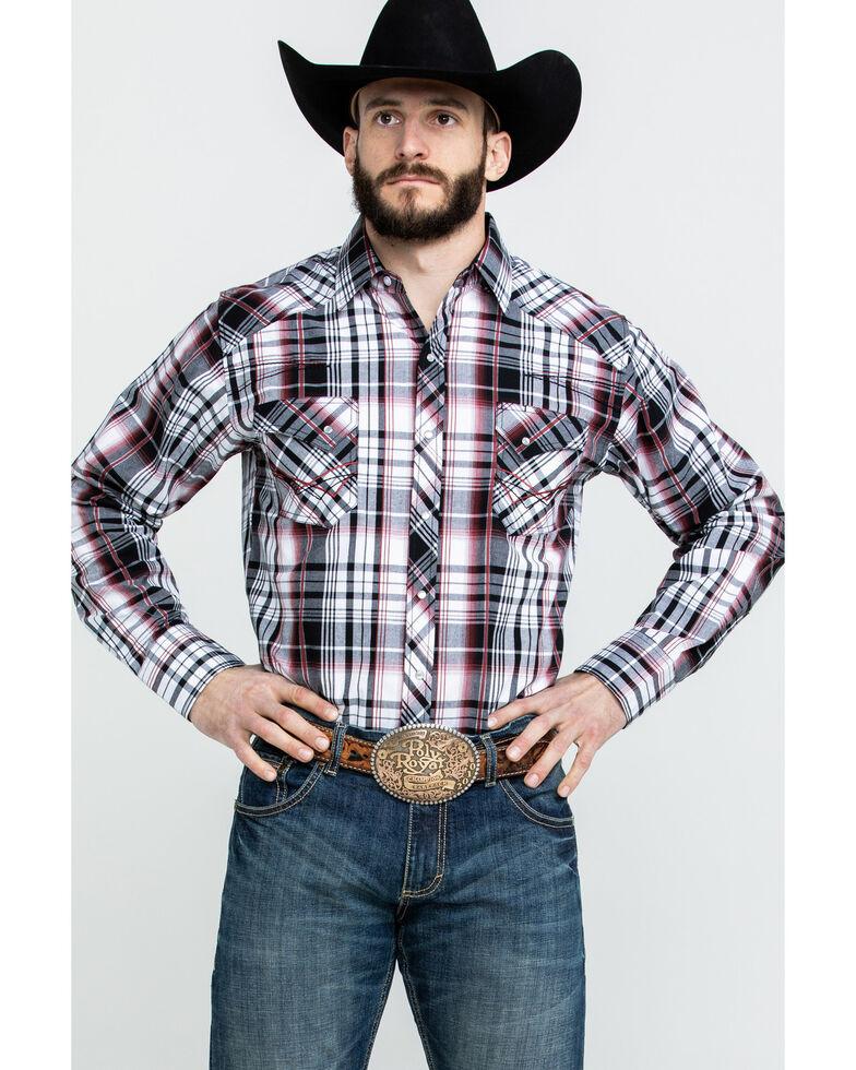 Ely Cattleman Men's Assorted Multi 1878 Plaid Long Sleeve Western Shirt , Multi, hi-res
