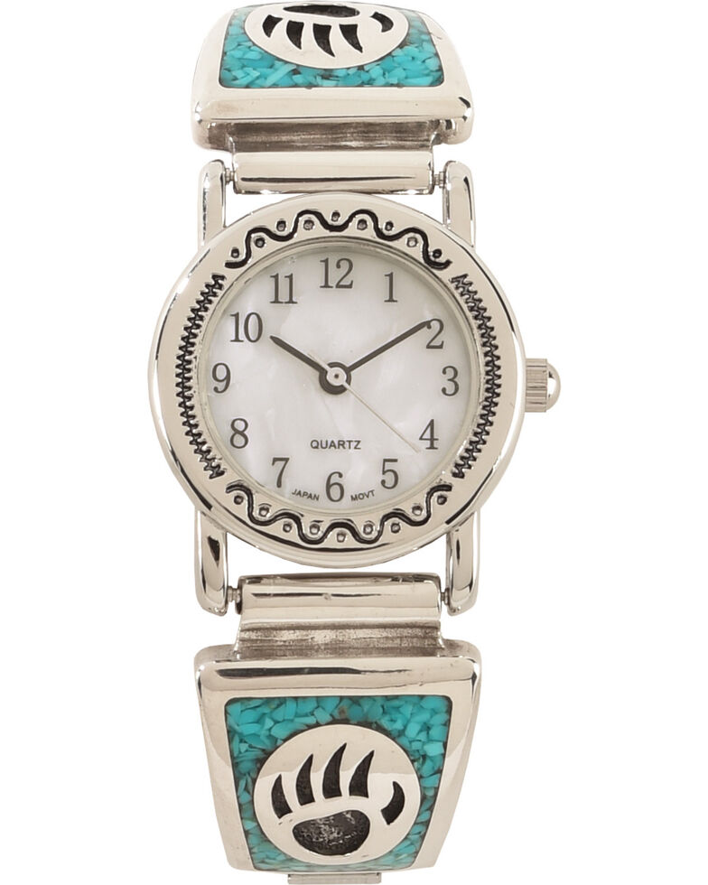 Silver Legends Women's Turquoise Bear Paw Watch , Turquoise, hi-res