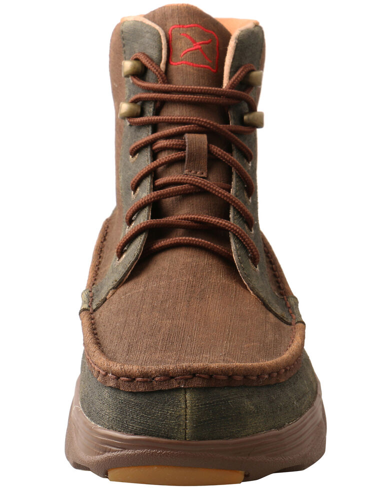 Twisted X Men's Crossover Lace-Up Boots - Moc Toe, Brown, hi-res