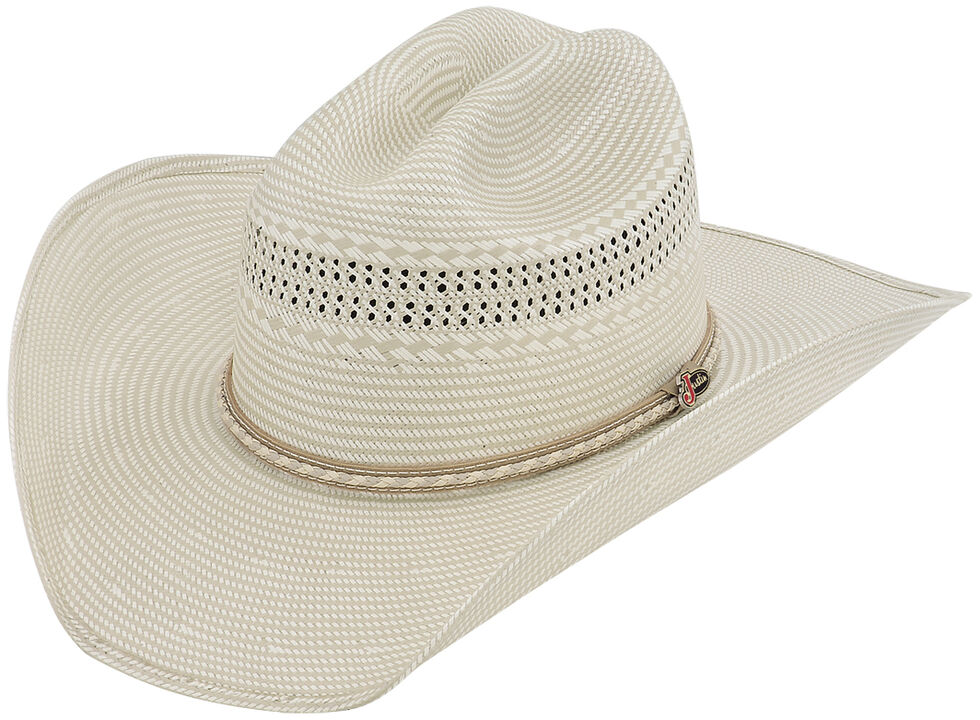 Justin 50X Sunderland Straw Cowboy Hat - Country Outfitter a7e635ad368