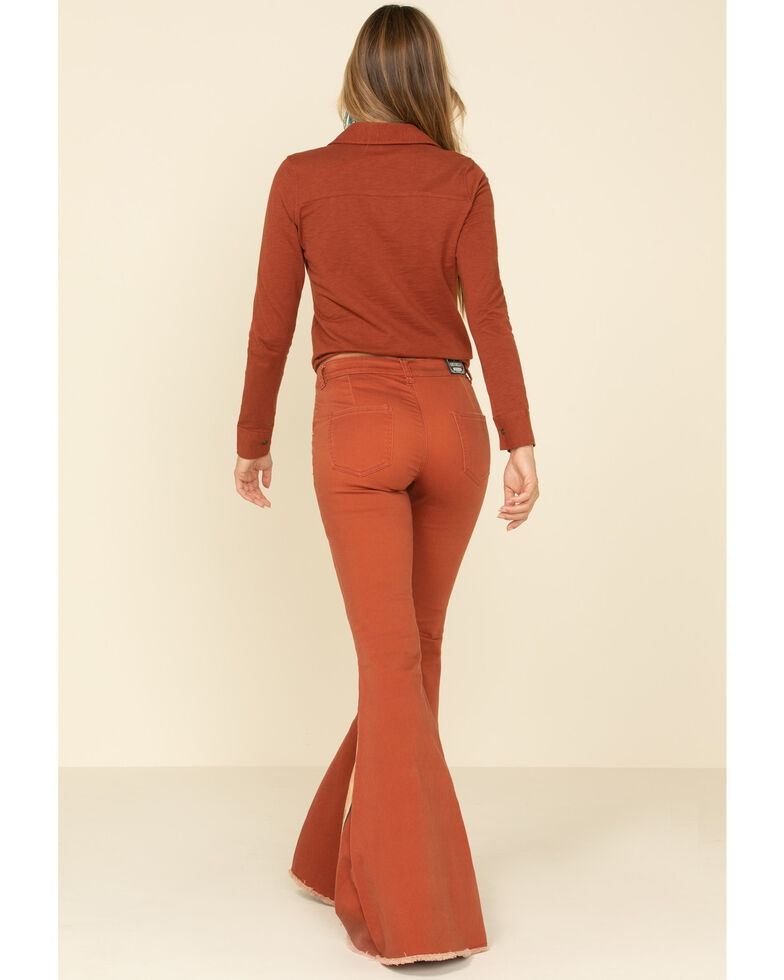 Ranch Dress'n Women's Cosmic Flare Jeans, Brown, hi-res
