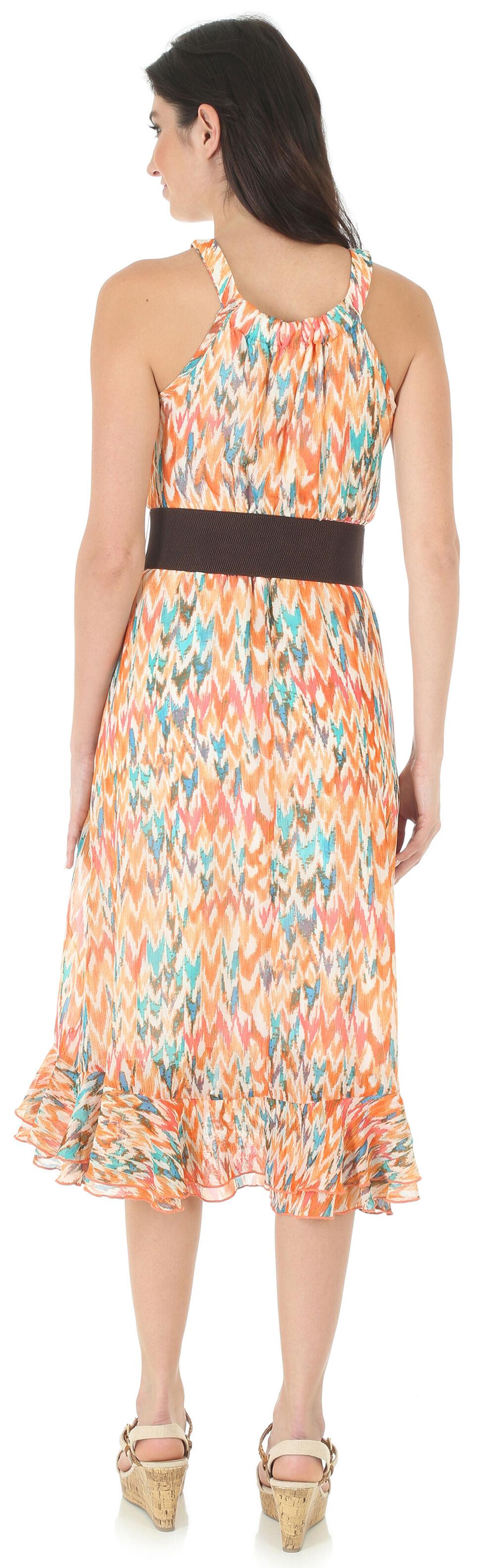 Wrangler Rock 47 Women's Multi Sleeveless Ruffle Hem Dress, Multi, hi-res