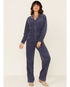 Wrangler Modern Women's Blue Denim Jumpsuit , Blue, hi-res
