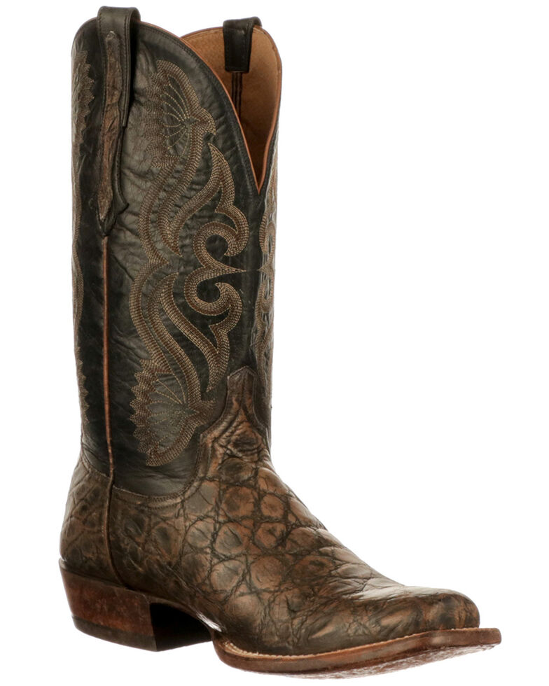 Lucchese Men's Roy Western Boots - Square Toe, Tan, hi-res