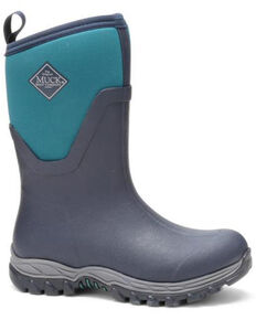 Muck Boots Women's Arctic Sport II Rubber Boots - Round Toe, Navy, hi-res