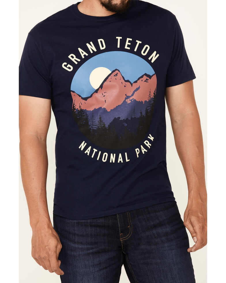 National Park Foundation Men's Navy Grand Teton Graphic Short Sleeve T-Shirt , Navy, hi-res